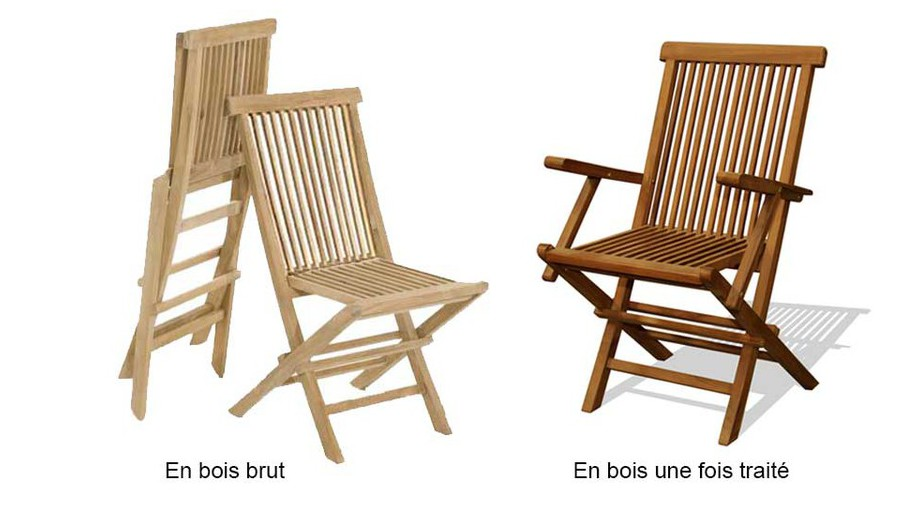 détails des chaises et des fauteuils de l'ensemble repas de jardin en teck