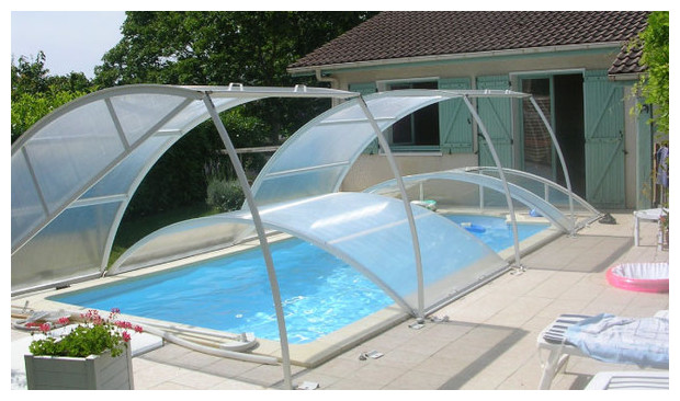 Abri amovible pour piscine piscine center net for Pose de margelle piscine