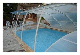 abri bas amovible pour piscine - vue levé