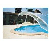 abri de piscine bas amovible - vue 1
