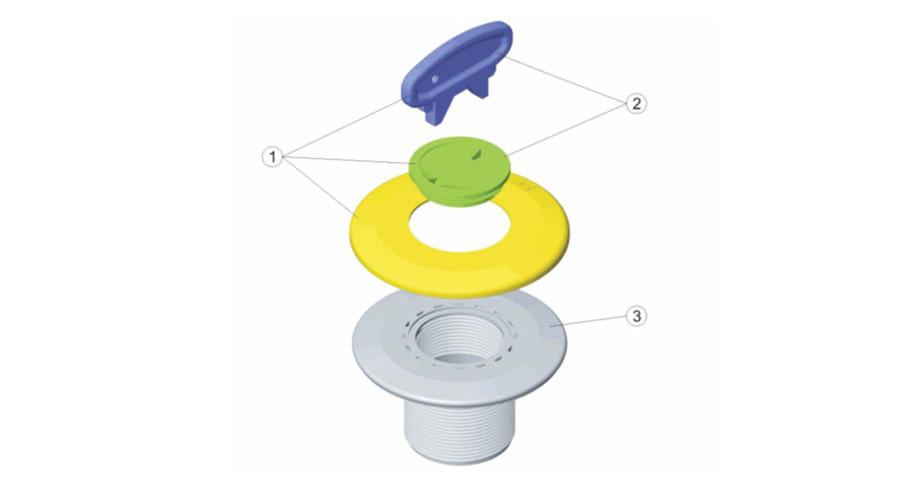 Prise balai sp cial piscine b ton coloris gris anthracite for Robot piscine prise balai