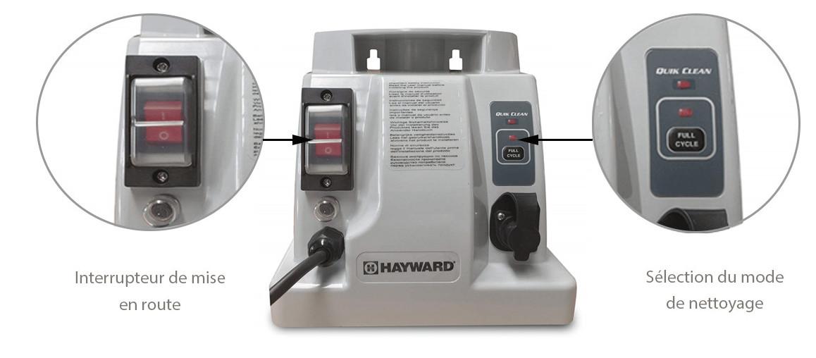 transformateur du robot de piscine hayward tiger shark qc