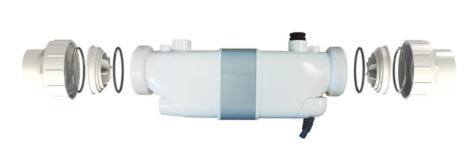 électrolyseur au sel de piscine Perle Série White détecteur de débit