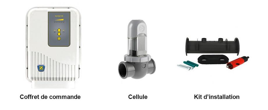 contenu de l'électrolyseur au sel Gensalt OE