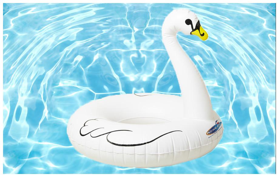 détails du cygne gonflable de piscine Kerlis