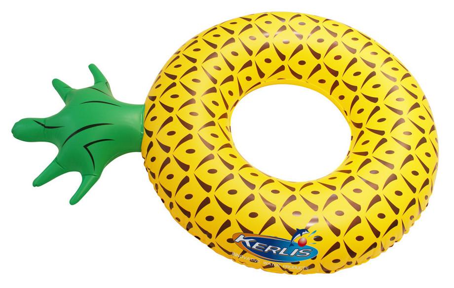 détail bouée gonflable Kerlis ananas pour piscine