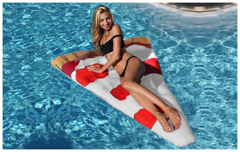 bouée gonflable de piscine en forme de pizza kerlis