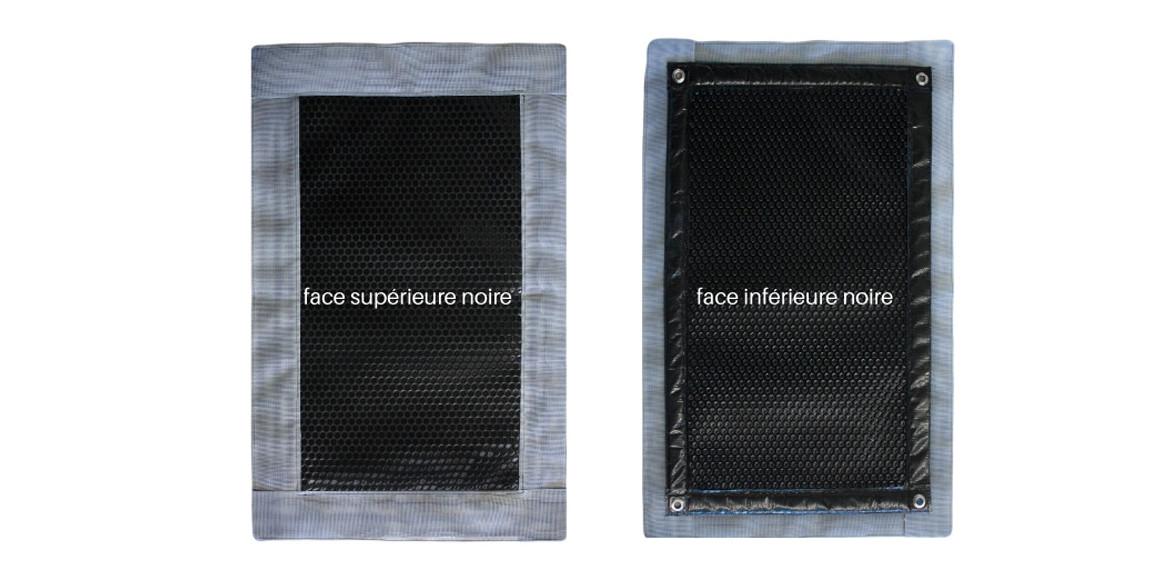 détails de la bâche à bulles Iverbul noire luxe 400 quatro