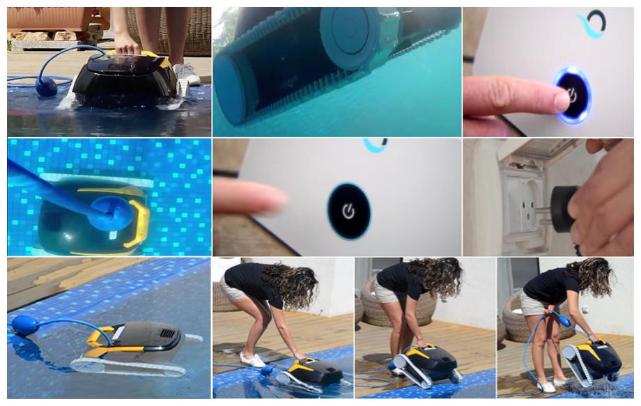 utilisation du robot de nettoyage de piscine Dolphin E25