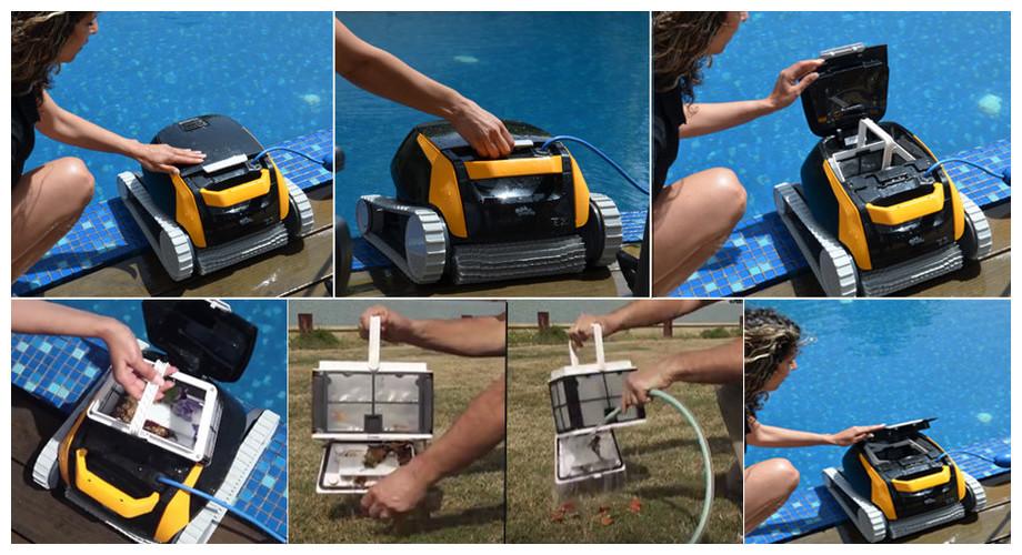 entretien du robot de nettoyage de piscine Dolphin E25