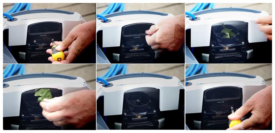 entretien de l'impulseur du robot Dolphin E25