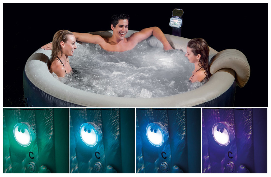 Lampe LED pour spa Intex gonfable à bulles