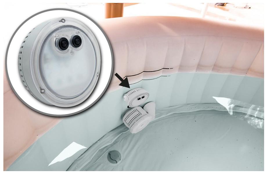 Lampe LED pour spa Intex gonfable à bulles - installation sur buse