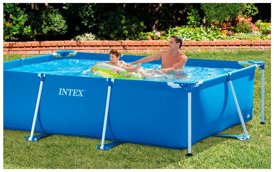 piscine intex hors sol tubulaire metal frame junior rectangle piscine center net. Black Bedroom Furniture Sets. Home Design Ideas