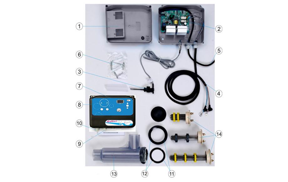 électrolyseur au sel de piscine O'Clair Série S composants