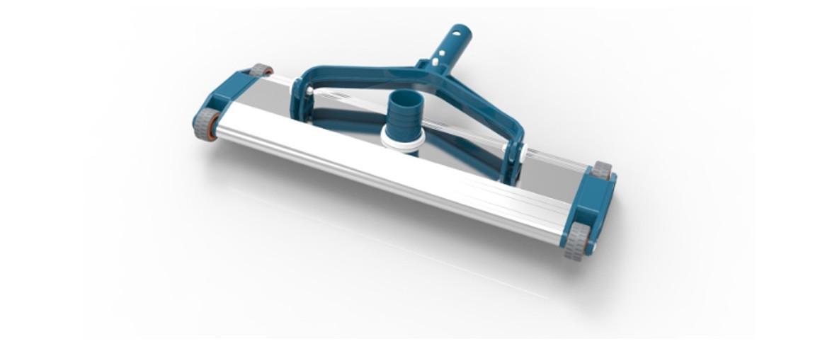 tête de balai en aluminium blue line pour piscine béton
