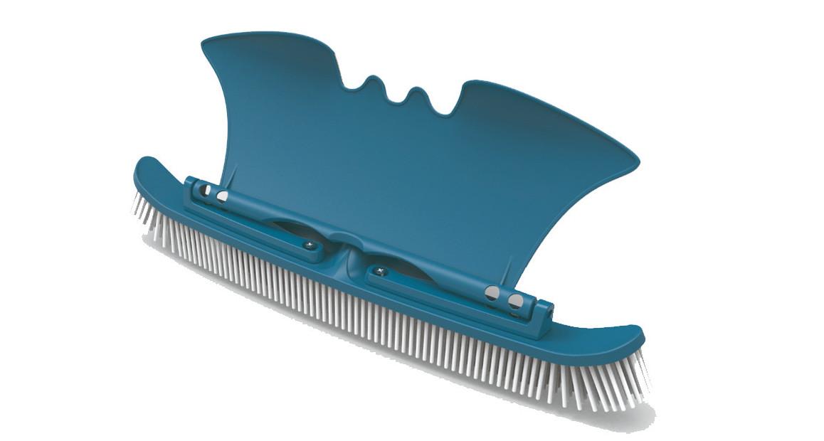 brosse de parois et de fond avec aile de placage blue line