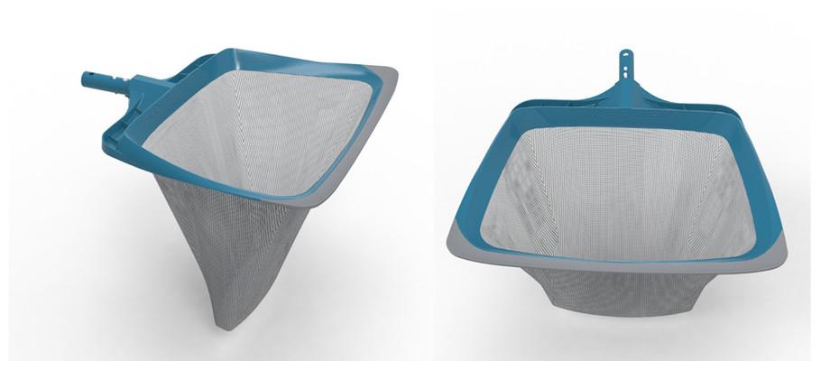 épuisette de fond pour piscine blue line forme incurvée