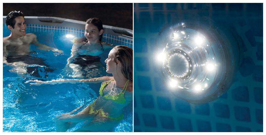 Lampe led 38 mm intex pas ch re piscine center net for Lumiere led piscine hors sol