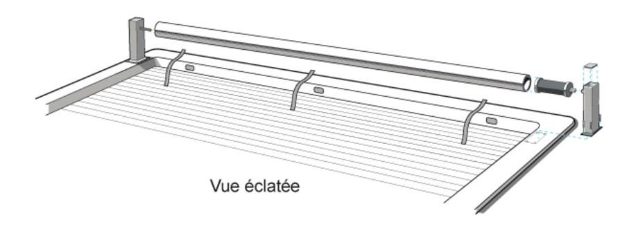 Volet électrique hors-sol O'Covern télécommande - vue éclatée