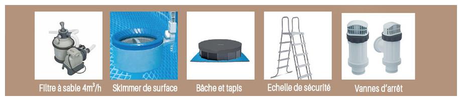 équipement de la piscine graphite intex