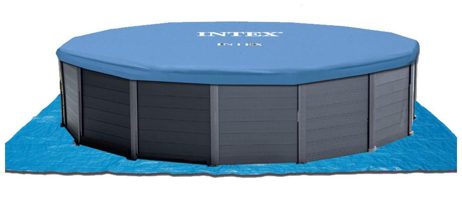 équipement complet de la piscine intex graphite