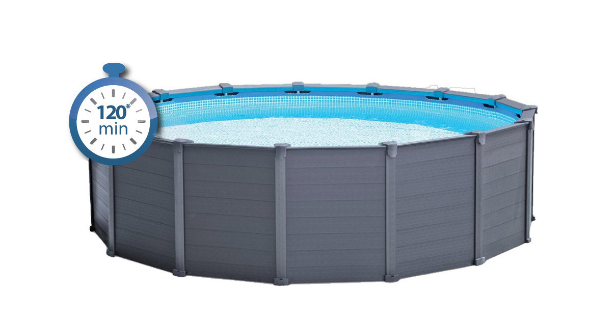 Piscine Tubulaire Ronde Graphite Intex ø478 X 124 M