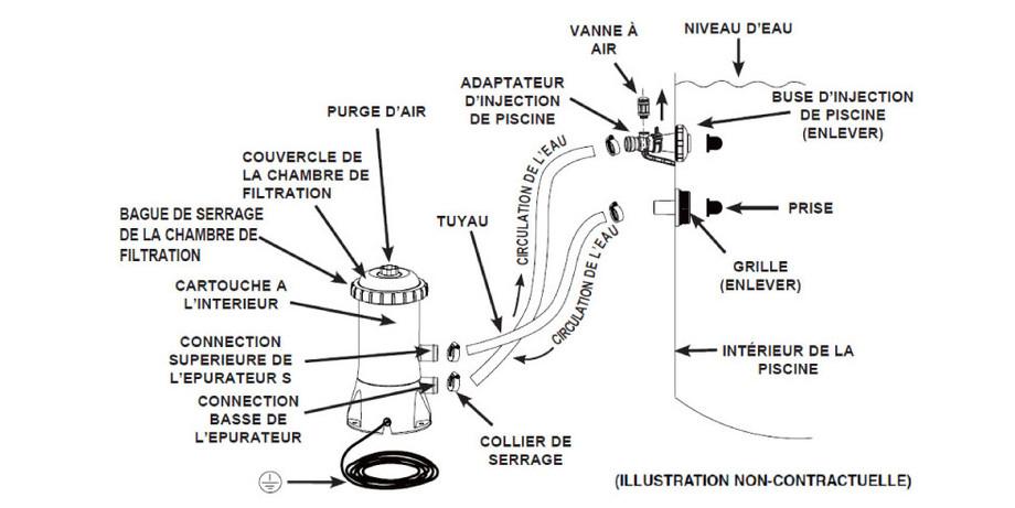 Epurateur à cartouche Krystal Clear Intex - schema réf 638