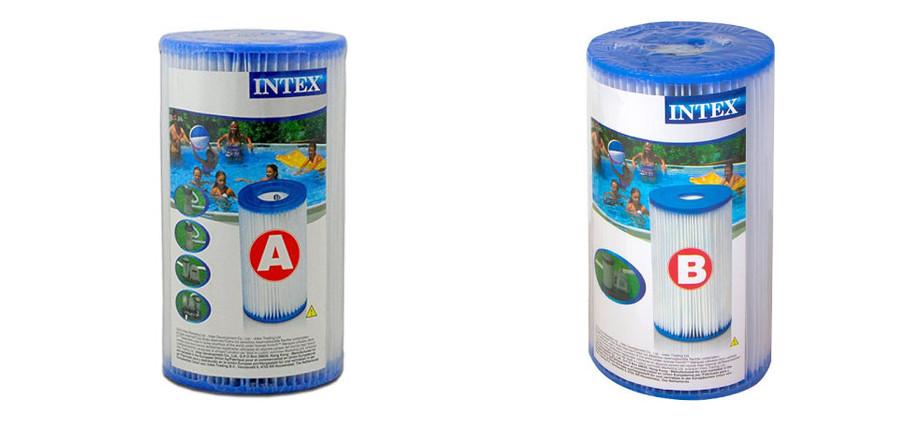 Epurateur à cartouche Krystal Clear Intex - types cartouches