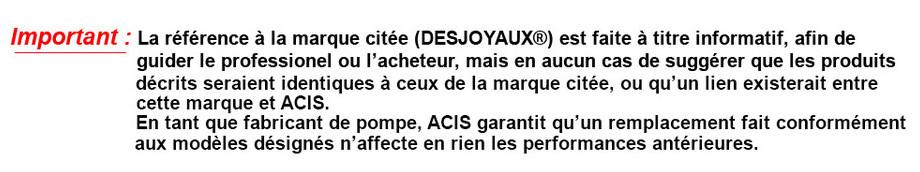 pompe solubloc piscine compatible Desjoyaux recommandatios