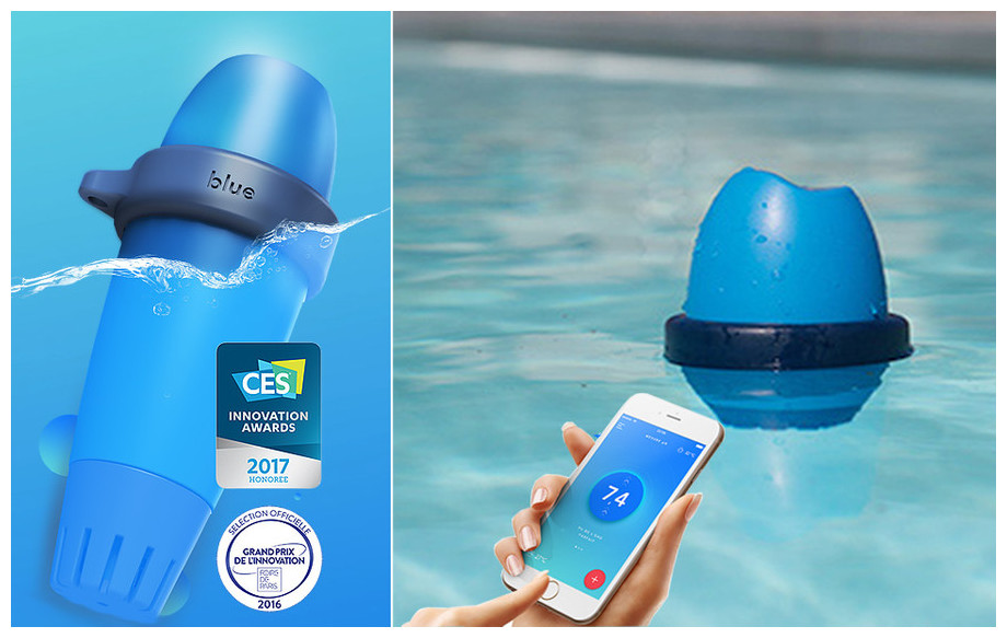 analyseur piscine connecté blue by riiot en situation