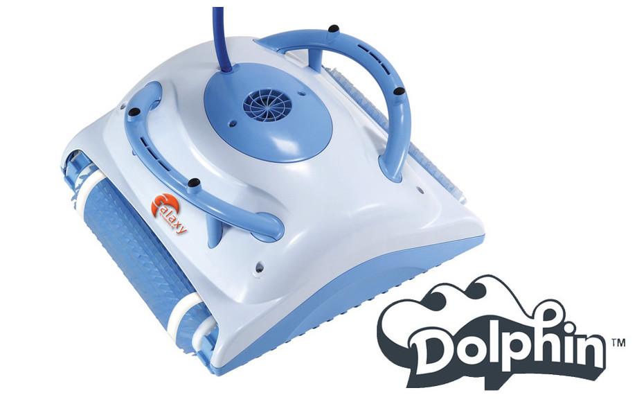 robot électrique de nettoyage de piscine Dolphin Galaxy en situation