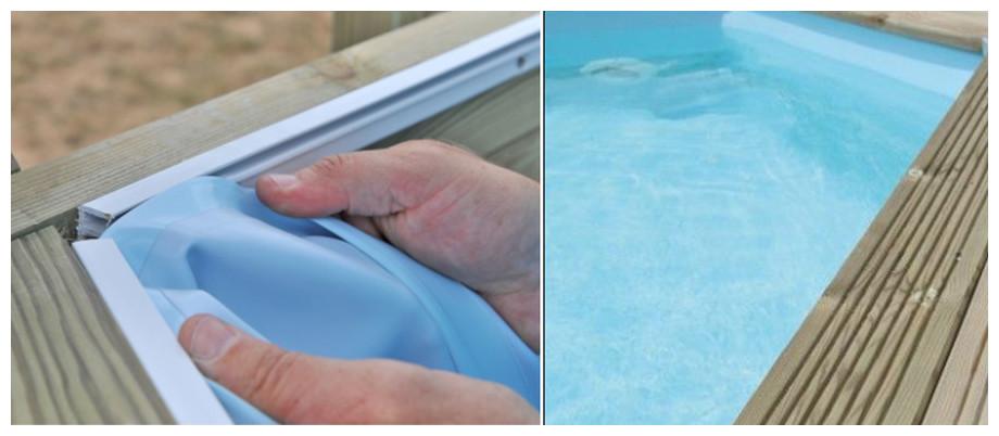 liner bleu pâle pour piscine bois woodfirst original rectangle