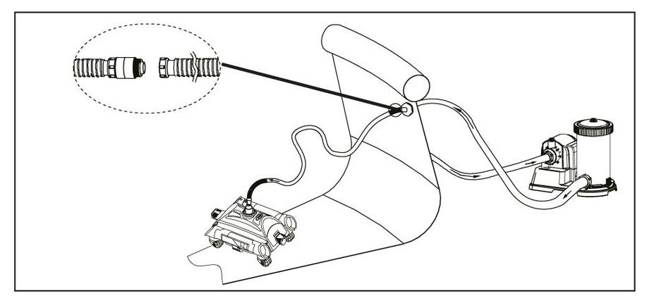 Robot de nettoyage hydraulique Intex - schema