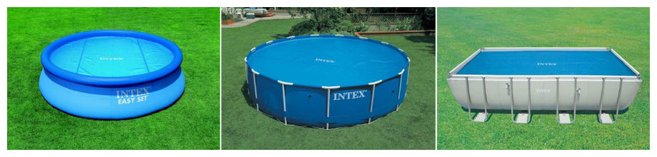Bâche à bulles pour piscine hors-sol Intex - forme ronde ou rectangle