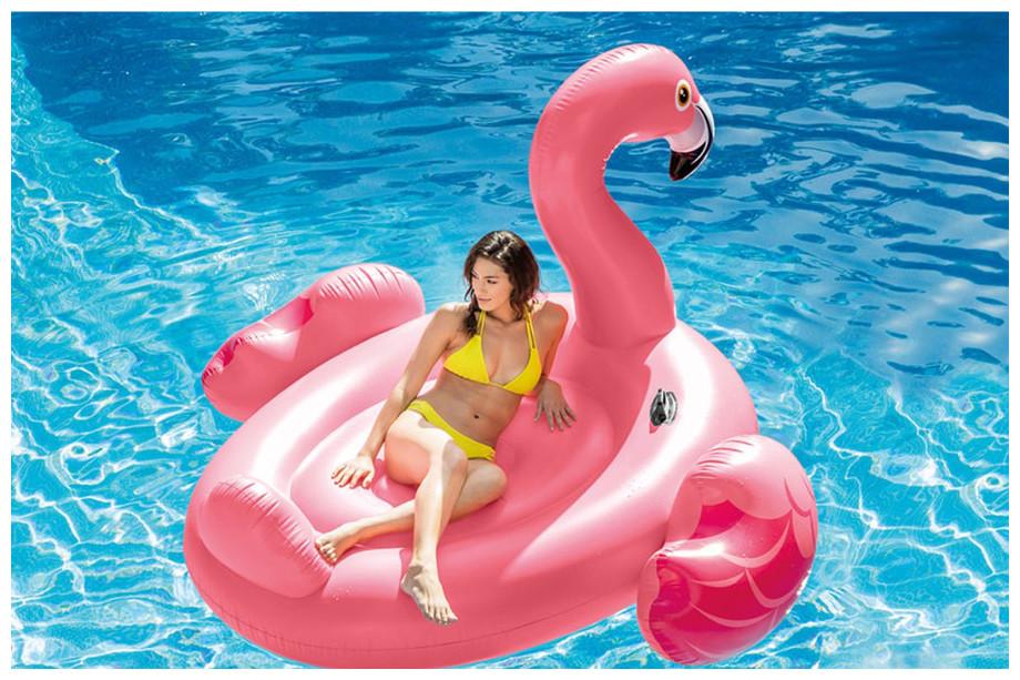 Bouée gonflable flamant rose géante intex