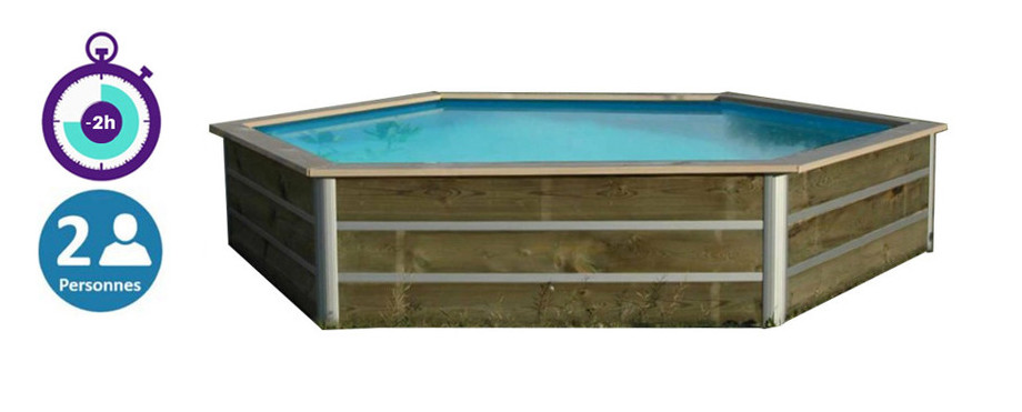 Piscine bois waterclip hauteur 58cm pour enfants piscine for Bcf international piscine
