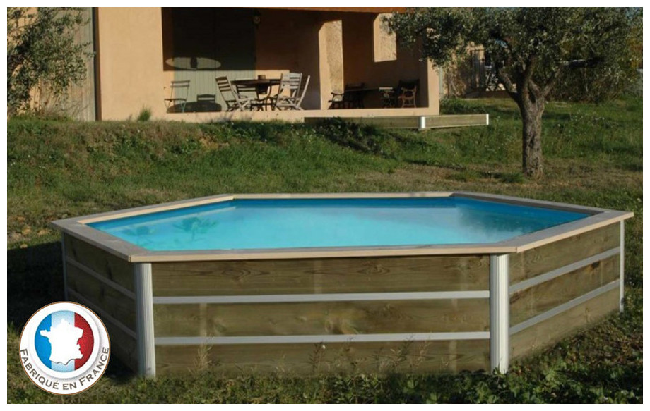 piscine bois hexagonale waterclip masbate en situation