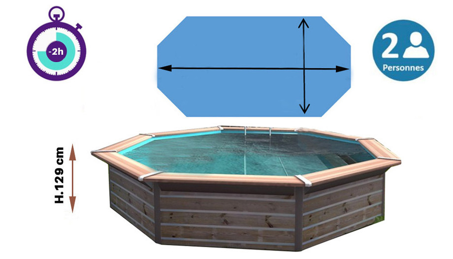 dimensions piscine bois octogonale waterclip