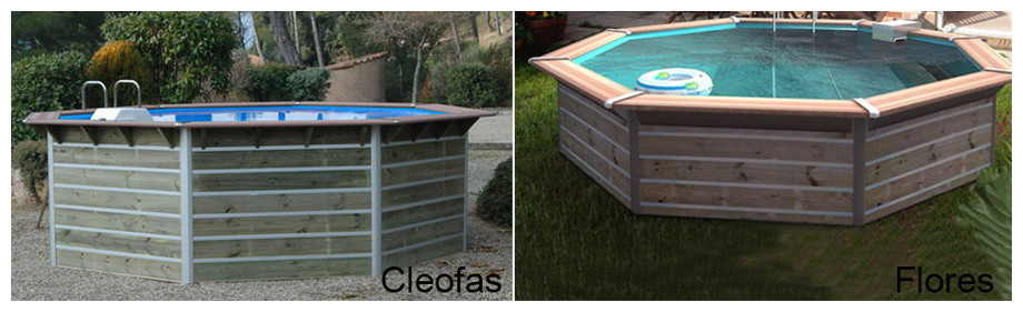 piscine bois octogonale waterclip cleofas et flores en situation