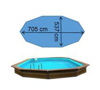 dimensions de la piscine bois ithaque waterclip