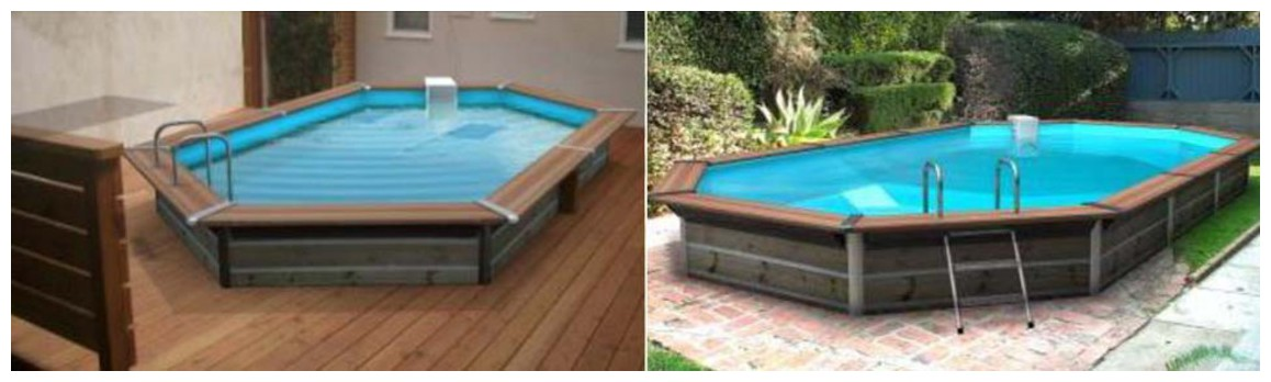 piscine bois waterclip hauteur 147 cm