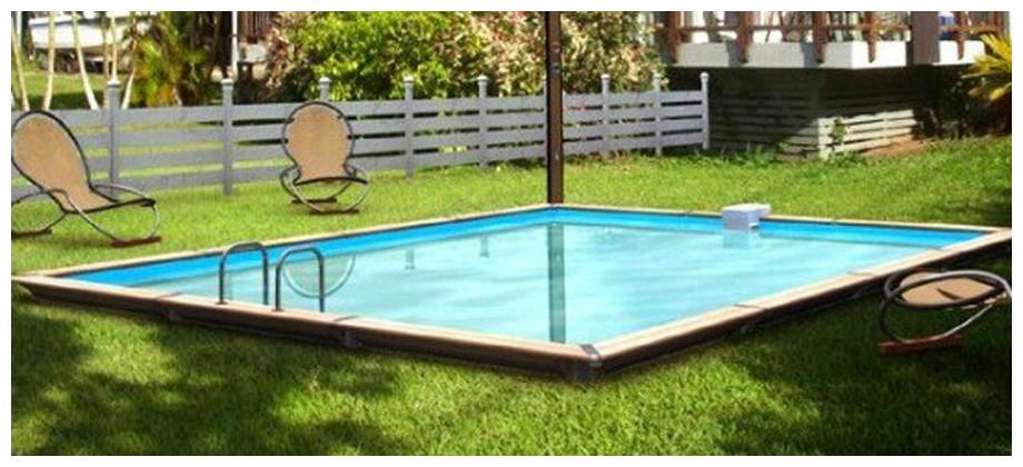 Piscine bois waterclip rectangle hauteur 147cm piscine for Piscine waterclip