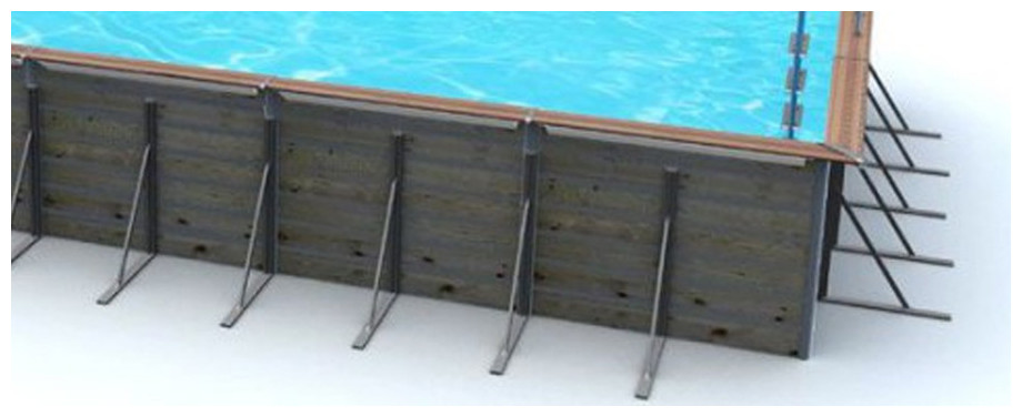 jambe de force piscine bois waterclip rectangle