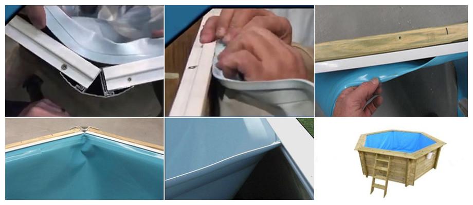 liner bleu pour piscine bois waterclip summum