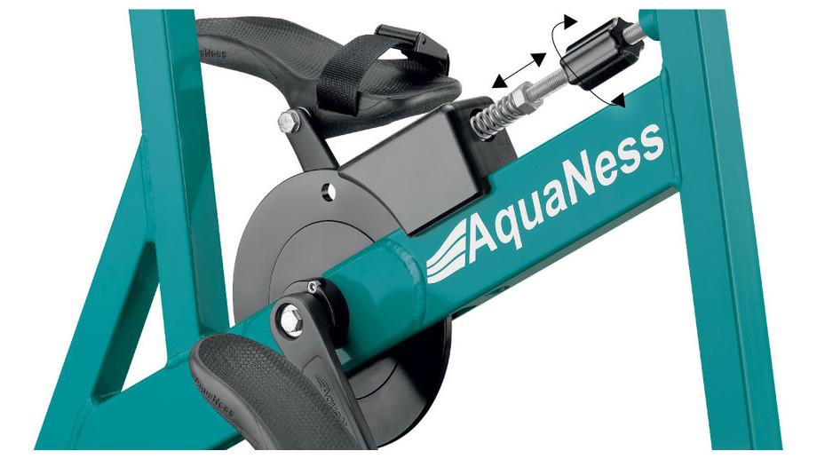 Vélo de piscine Aquaness Aquabike V2 - réglage manuel à molette