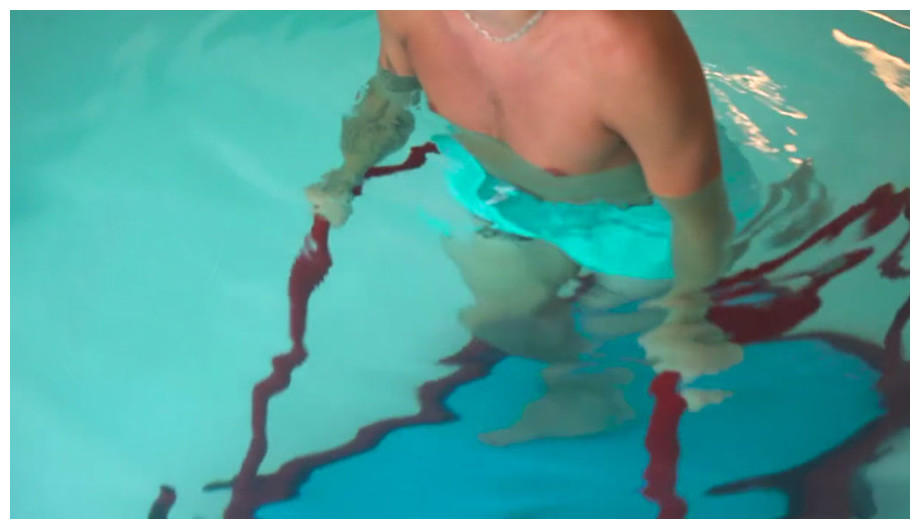Tapis de marche aquatique Aquaness T1 - en marche