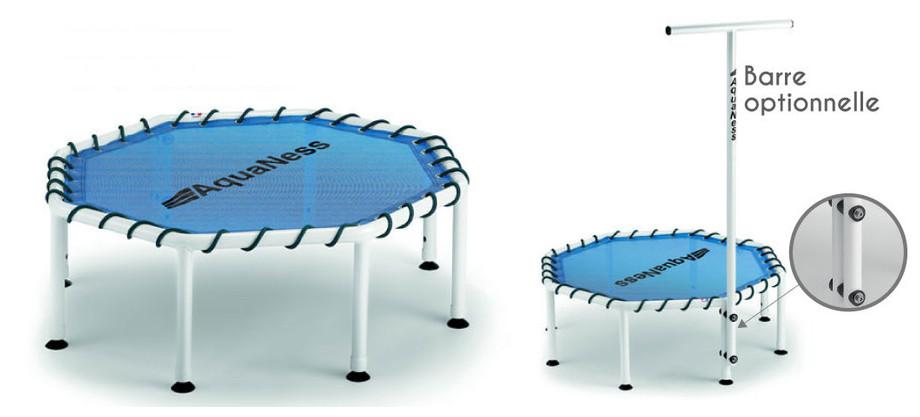 Trampoline Aquaness TR1 pour piscine - barre en option (non fournie)