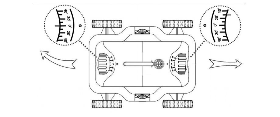 orientation de la buses du robot électrique de piscine E kleen par kokido