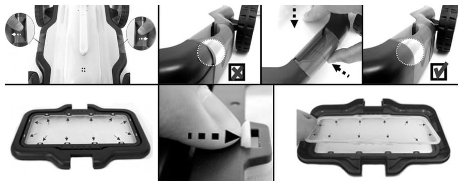 nettoyage du filtre du robot électrique E Kleen de kokido en situation